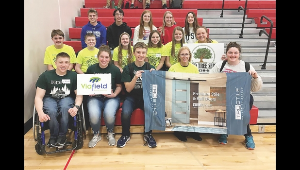 Pictured are the teams that represented N-K at the Engineering Machine Design Contest, including (front row, from left) Wyatt Willand, Emma Davidson, Nathan Hannemann, Mrs. Willert, Ms. Della Vedova, (middle row) Kenny Conlin, Weston Willand, Jadyn Beland, Madalynn Hanson, Chloe Costello, Teagan Johnson, (back row) Hayden Moore, Thomas Block, Kayla Senne, Ruthie Conlin and Evelyn Ocel.