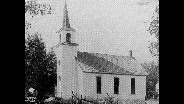 The original church building in Bolan is pictured here. It stood until 1949.