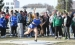 Lady Viking Jesslyn Sims competes in the shotput last Tuesday afternoon at the Saints Coed Relays in Saint Ansgar. Sims earned her team one point with her throw of 26-09.25, good for sixth place.