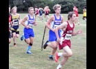 Vikings Hayden Moore and Nathan Hannemann run with the pack in last Tuesday's Newman Catholic Invitational on the Mercy West Campus in Mason City. Moore and Hannemann placed 27th and 28th respectively in the first meet of the year.