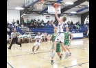 N-K's Kael Julseth puts up a running jumper in last Friday's 47-35 loss to Osage. Against the Green Devils Julseth had eight points, three assists and two rebounds. Julseth is averaging 6.1 points per game this season.