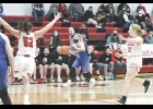 Continually earning more and more playing time this season, N-K's Briar Anderson sets up the offense last Monday night in Riceville. Anderson came off the bench in this game, a 45-29 loss, and scored four points on 2-3 shooting from the field.