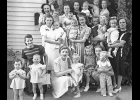 Pictured are those at Cynthia Vold Forde's one year old birthday party 80 years ago.