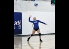 Lady Viking Shallon Batton delivers a serve in last Tuesday night's 3-0 (5-25, 8-25, 14-25) loss to No. 1 (3A) Osage. Batton was 3-3 on the night and has faced the pressure of the service line with coolness and composure this season, going 18-19 on the year and boasting the top percentage on the team at 94.7 percent.