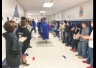 A fairly new graduation week tradition resumed last week, as Northwood-Kensett's graduating seniors walked through the halls of the elementary school. Their visit allowed the younger students to applaud the grads-to-be while also getting a look at their future